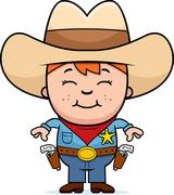 Kid Sheriff Stock Illustration