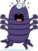 Centipede Panic - stock illustration
