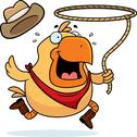 Stock Illustration of Rodeo Chicken
