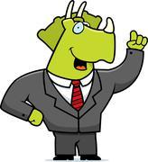 Stock Illustration of Business Dinosaur
