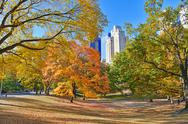 Stock Photo of Fall Foliage in New York: Autumn in Central Park, Manhattan
