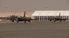 Al Fursan Aerobatic Team  Stock Footage