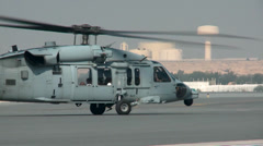 Helicopter at Sakhir Air Base  Stock Footage
