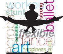 Ballet, Vector illustration Stock Illustration