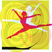 Stock Illustration of Ballet, Vector illustration