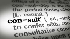 Dictionary Consult 4K Stock Footage