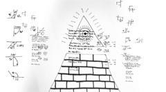 Illuminati information data stream Stock Footage