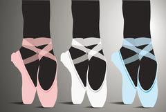 Ballet kengät, vektori kuva Piirros