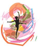 Ballet, Vector illustration Stock Illustration