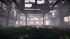 Abandoned warehouse Stock Footage