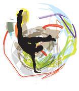 Ballet, Vector illustration - stock illustration