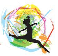 Dancing. Vector Illustration Stock Illustration