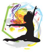 Dancing. Vector Illustration - stock illustration