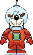 Dog Astronaut Stock Illustration