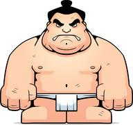Big Sumo Wrestler - stock illustration