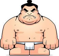 Big Sumo Wrestler Stock Illustration