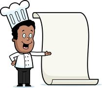 Kid Chef Menu Stock Illustration