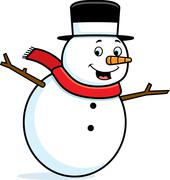 Stock Illustration of Snowman Smiling