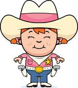 Kid Sheriff - stock illustration