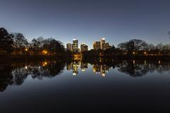 Atlanta midtown night Stock Photos