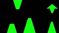 Arrows Green (720p) - stock footage