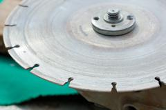 diamond disc for angle grinders - stock photo