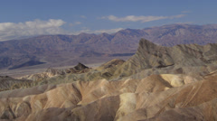Time lapse panning across Zabriskie Point in Death Valley, California Stock Footage