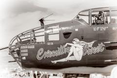 Bullhead city, arizona - april 6: close up of cockpit, front gun turret Stock Photos