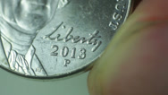 Stock Video Footage of nickle american liberty coin thomas jefferson