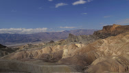 Stock Video Footage of Time lapse moving towards Zabriskie Point in Death Valley, California