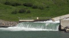 Irrigation Dam Spillway Stock Footage