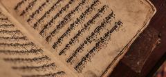 Ancient arab manuscript Stock Photos