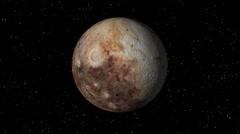 Pluto Rotating Seamless Loop 4K UHD Stock Footage