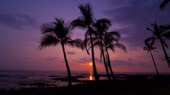 Beautiful Hawaiian Sunset Stock Footage