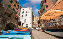 Quaint village of cinque terre Stock Photos