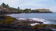 Resort on Beach in Kona, Hawaii Stock Footage