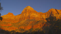 Dramatic Mountains in Zion National Park Stock Footage