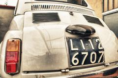 Pisa, italy - feb 8, 2014: old 500 fiat car. the 500 model has been one of th Stock Photos