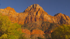 Mountains in Zion National Park - stock footage