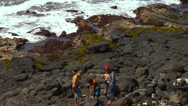 Young Boys Preparing to Spear Fish Stock Footage