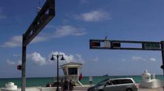 Street Corner Ocean Boulevard 1A1 Ft. Lauderdale Stock Footage