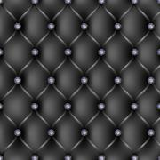 Black leather upholstery pattern background Stock Illustration