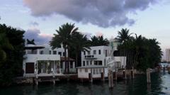 Luxury homes on Miami Islands - stock footage