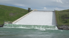 Irrigation Dam Spillway - stock footage