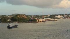 Antigua Caribbean cargo industrial harbor HD 1348 Stock Footage