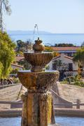 Fountain pacific ocean mission santa barbara california Stock Photos