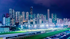 Luxury Residential Apartment Buidings and Horse Racing Course. Stock Footage