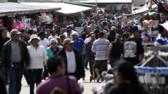 People at a flea market - stock footage