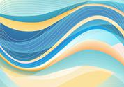 Stock Illustration of Blue and white waves package background