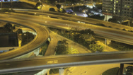 Stock Video Footage of Time lapse of a busy Hong Kong freeway at night